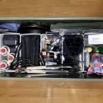 【アウトドア】アイリスオーヤマの収納ボックスの中を、ダイソーのボックスで仕切ってスッキリ収納